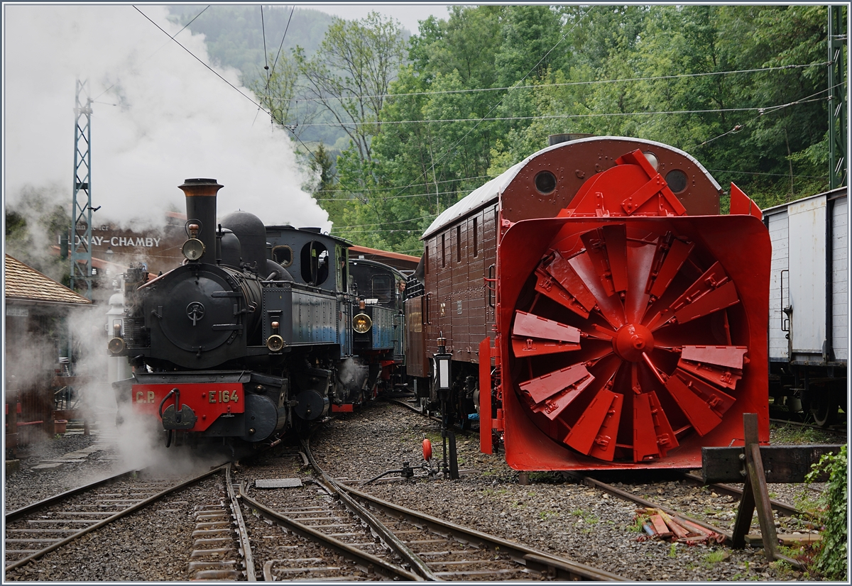 Blonay-Chamby Mega Steam Festival 2018: The CP 164 in Chaulin.