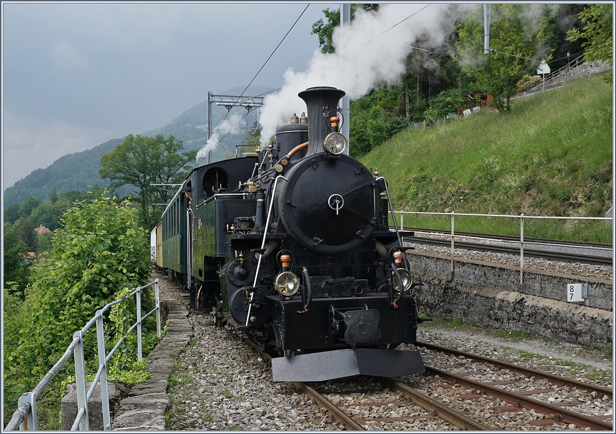 Blonay Chamby Mega Steam Festival: The HG 3/4 N° 3 in Chamby.