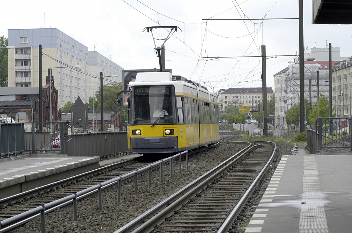 BVG 1005 Line  M 5 - Direction Zingster Strasse in Hohenschönhausen, Berlin.