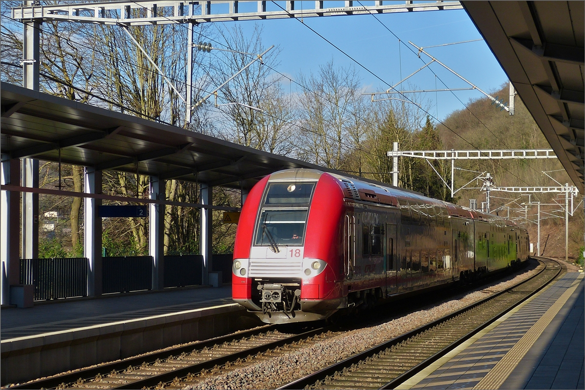 CFL 2218 arriving in de station Pffafenthal-Kirchberg on January 16th. 2020