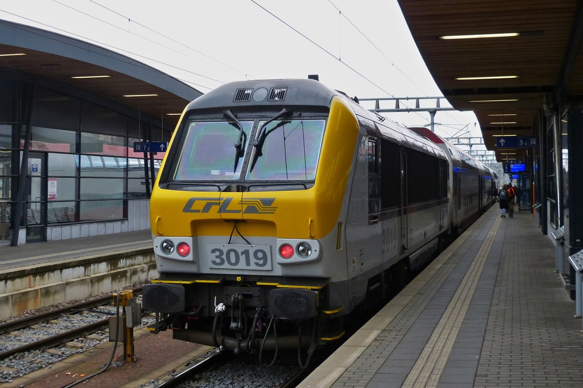 CFL 3019 photographed in Luxembourg City main station on December 2nd, 2020.