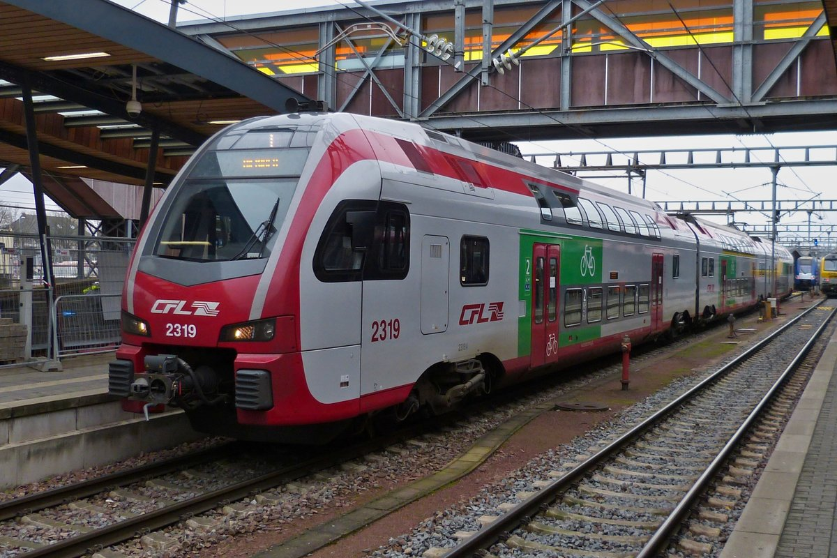 CFL Z 2319 photographed in Luxembourg City main station on December 7th, 2020.