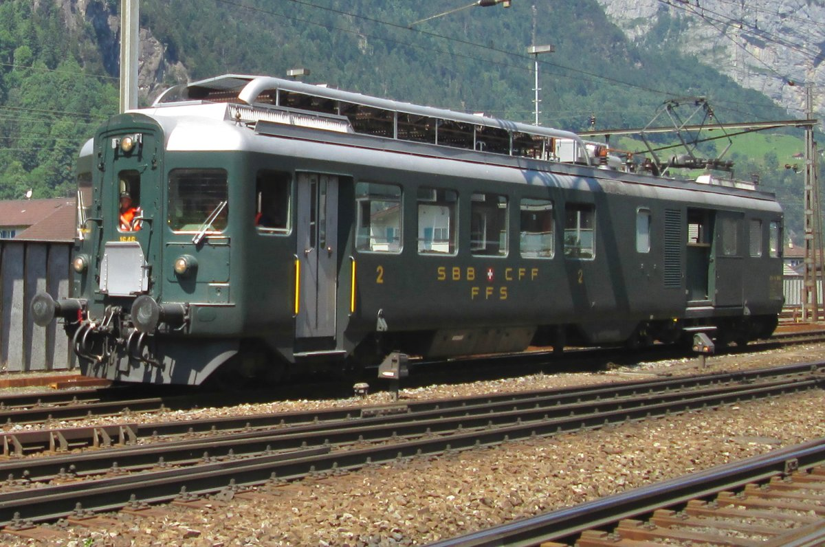 Condition rides for SBB 1646 at Erstfeld on a sunny 5 June 2015.