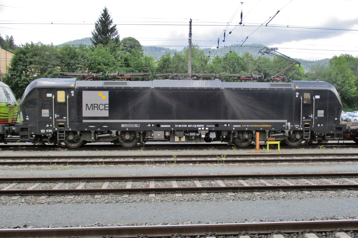MRCE 193 667 stands in Kufstein on 18 May 2018.