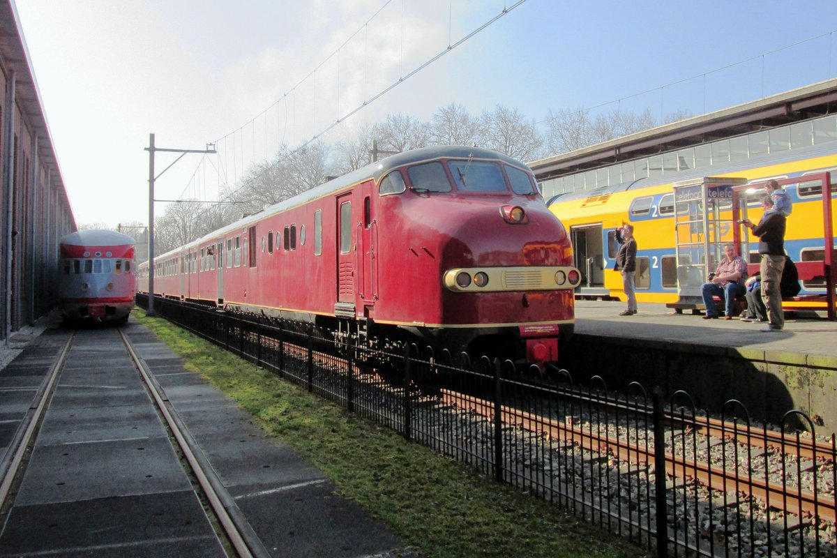 NSM 114 stands on 9 March 2014 at Utrecht-Maliebaan, a closed passenger station that became the Nederlandsch Spoorwegmuseum.