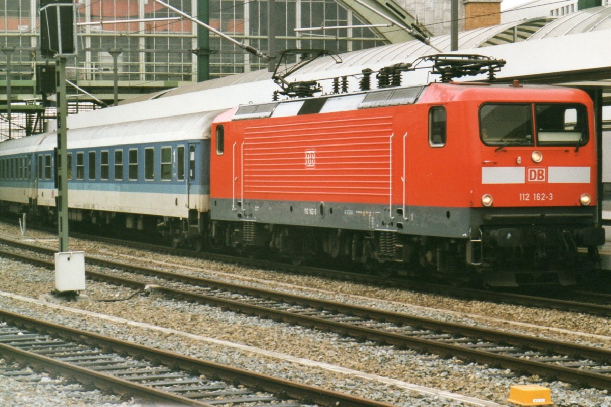 Scanned picture of 112 162 with interregio to dresden and for Berlin to dresden train