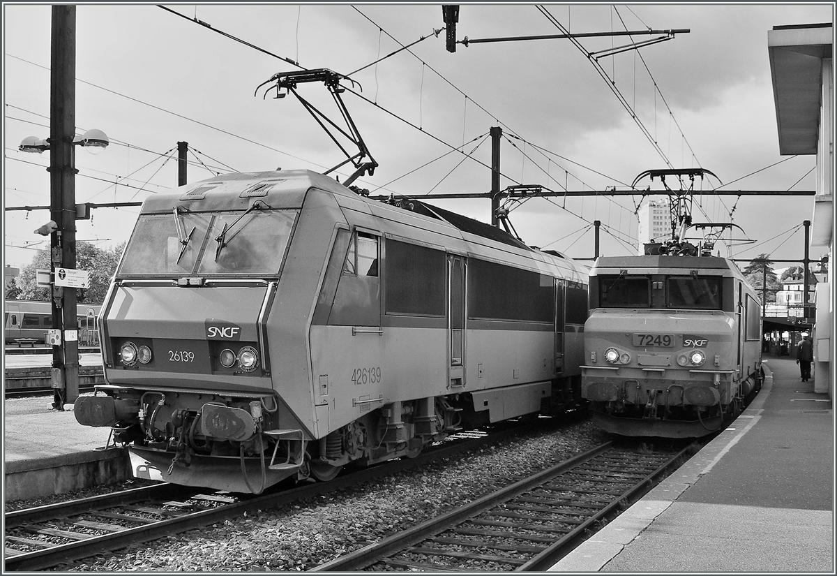 SNCF BB 26139 and BB 7249 in Dijon.