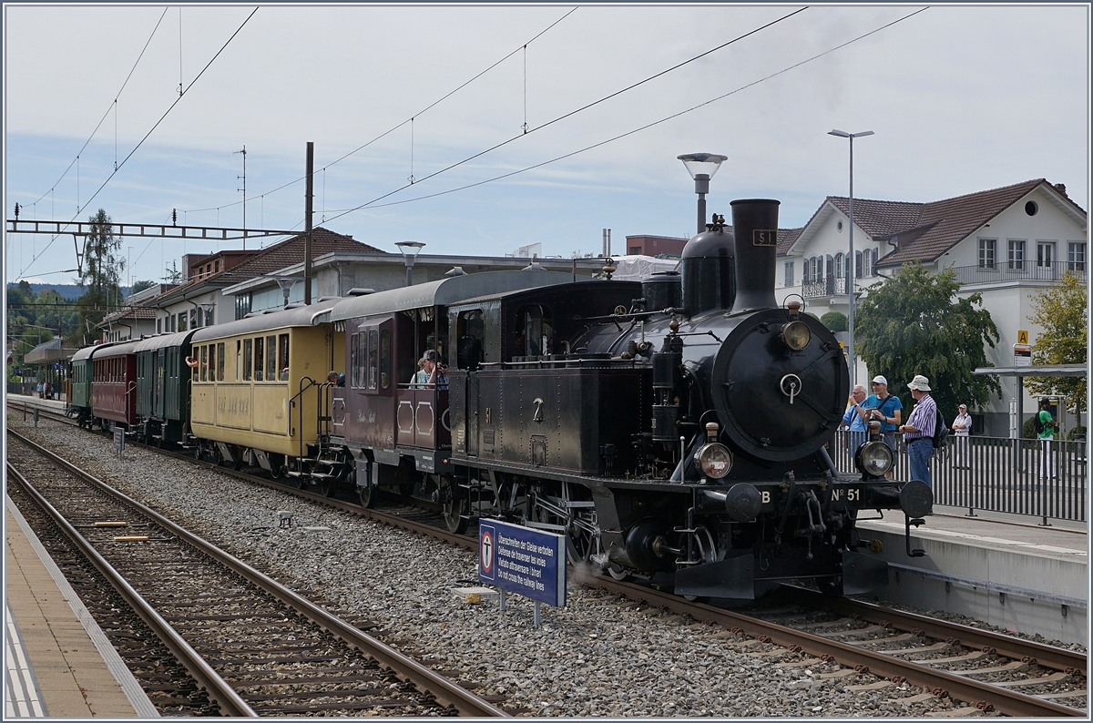 Steam Day Lyss 2018: The DBB (Dampfbahn Bern) Ed 3/4 71 in Lyss.