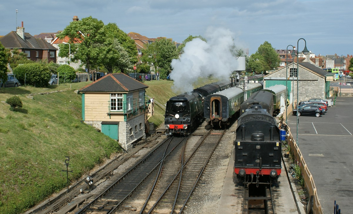 Steamers in Swanage. 