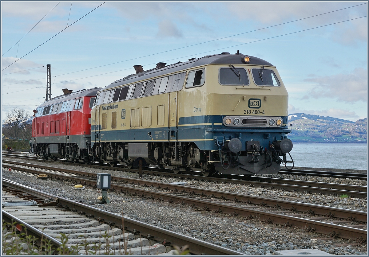 The 218 460 and an other one in Lindau. 