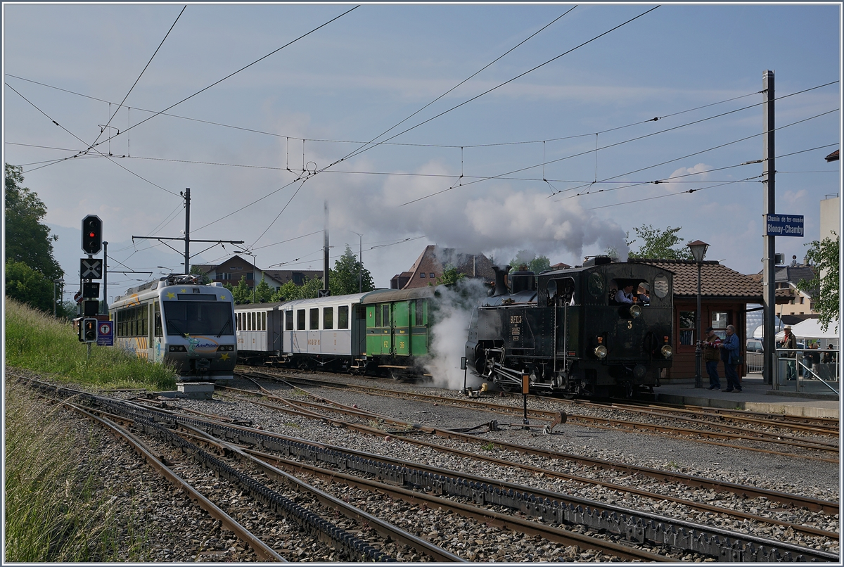 The Blonay Chamby Mega Steam Festival 2018: The Blonay-Chamby BFD HG 3/4 N° 3 in Blonay.