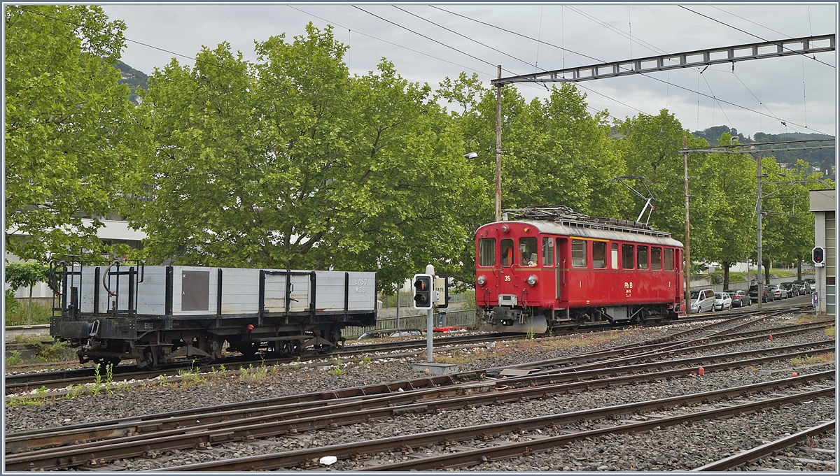 The Blonay Chamby RhB ABe 4/4 35 in Vevey.