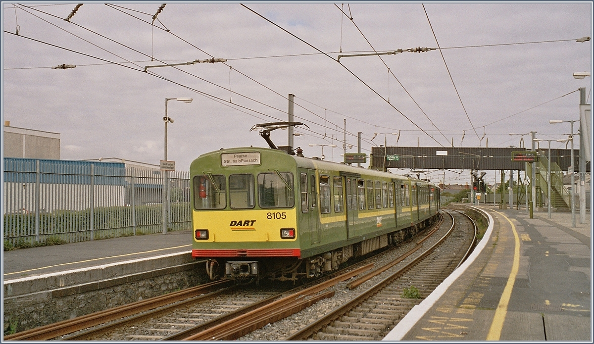 The DART 8105 in Howth Junction. 