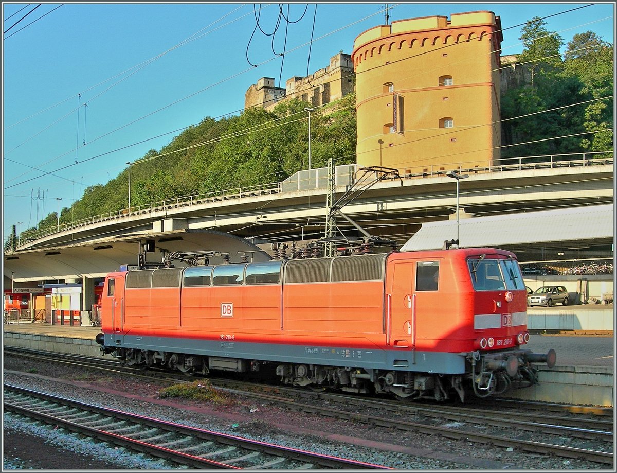 The DB 181 210-6 in Koblenz.