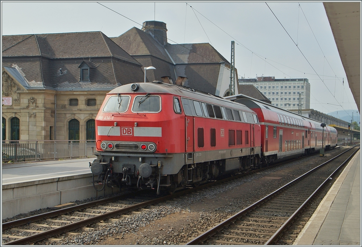 The DB 218 414-1 in Koblenz.