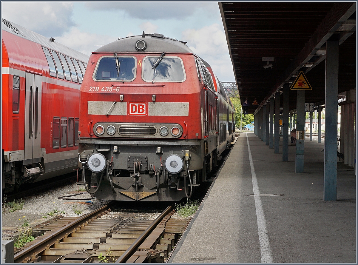The DB 218 435-6 in Lindau Hbf.