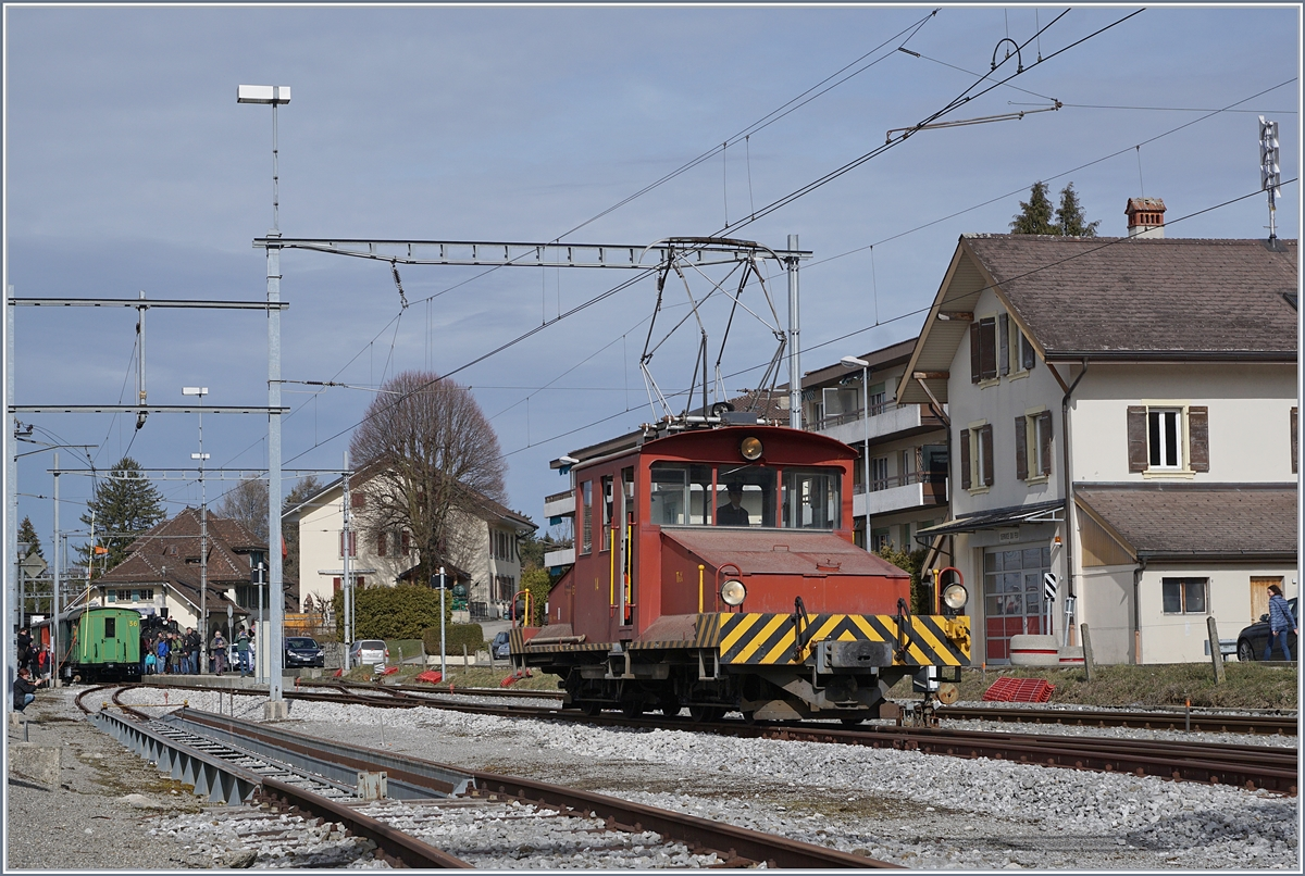 The GFM Te 4/4 14 in Palézieux.
