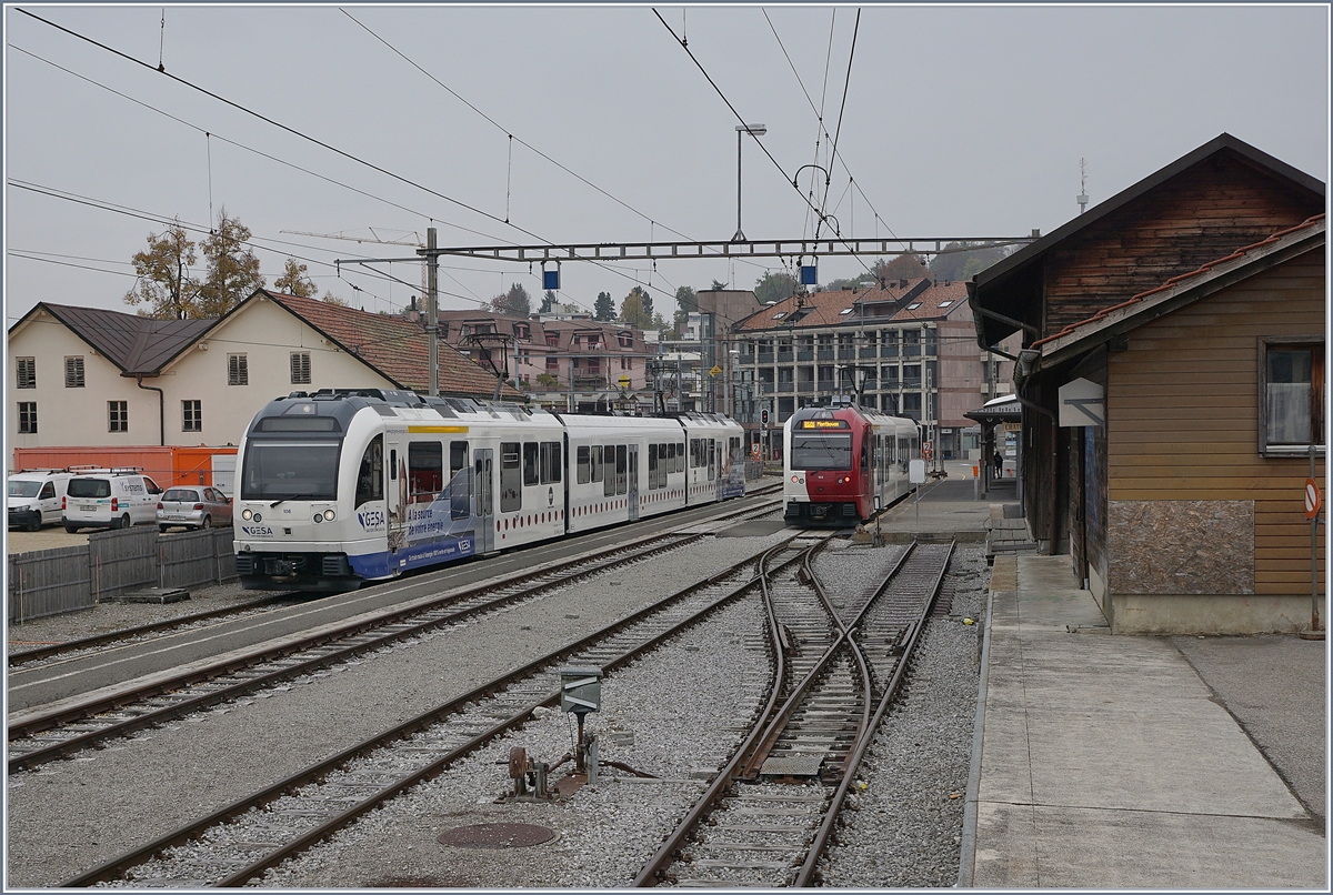 The last days of the old Châtel St-Denis Station. 
