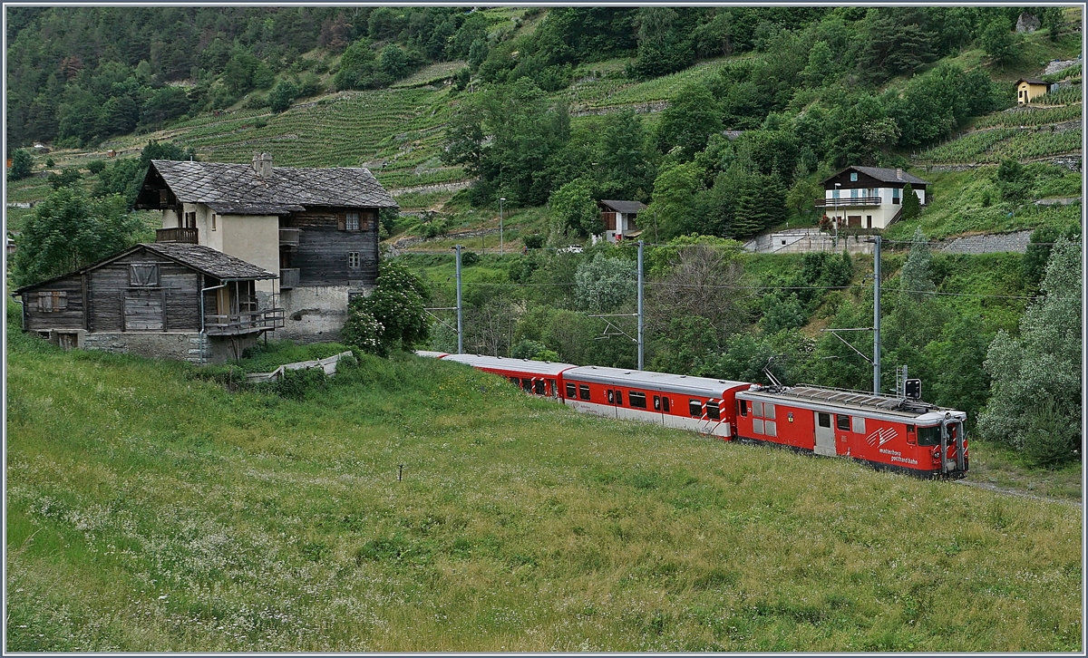 The MGB Deh 4/4 with a local Service to Fiesch by Milachru.