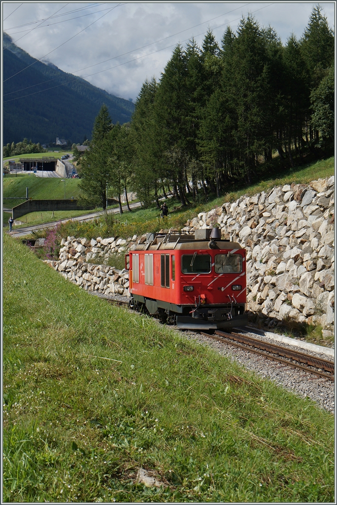 The MGB Gm 4/4 near Oberwald.