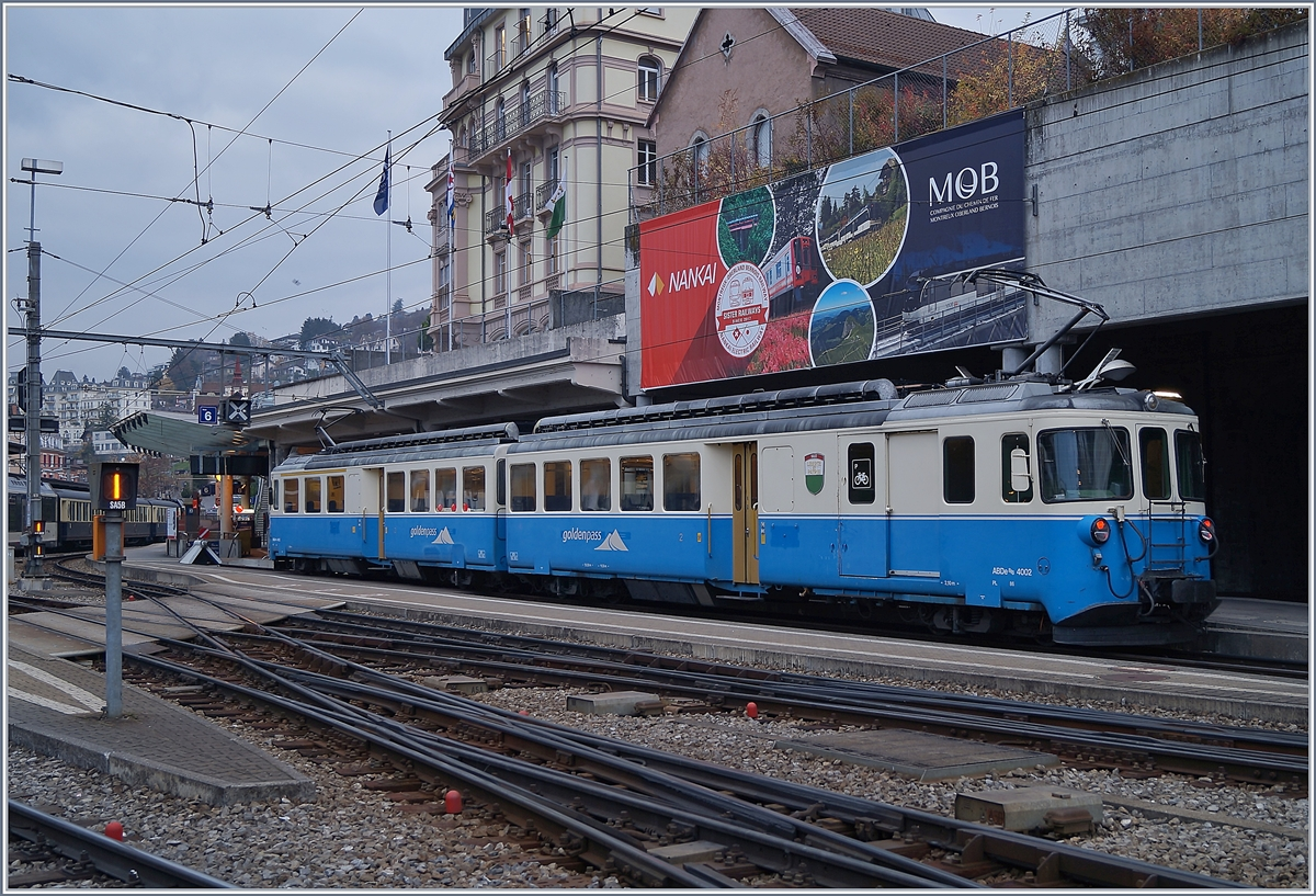 The MOB ABDe 8/8 4002 VAUD in Montreux.