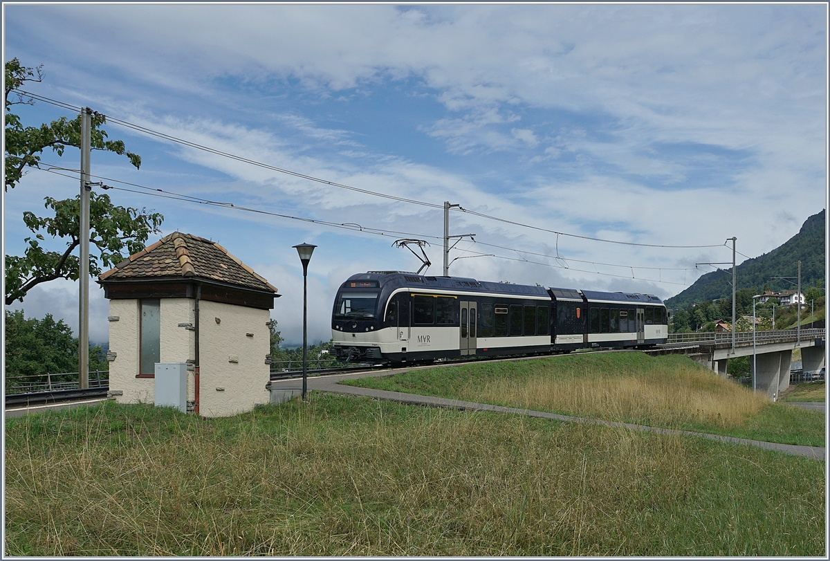 The MOB Abeh 2/6 7501 by Châtelard VD on the way to Les Avants.