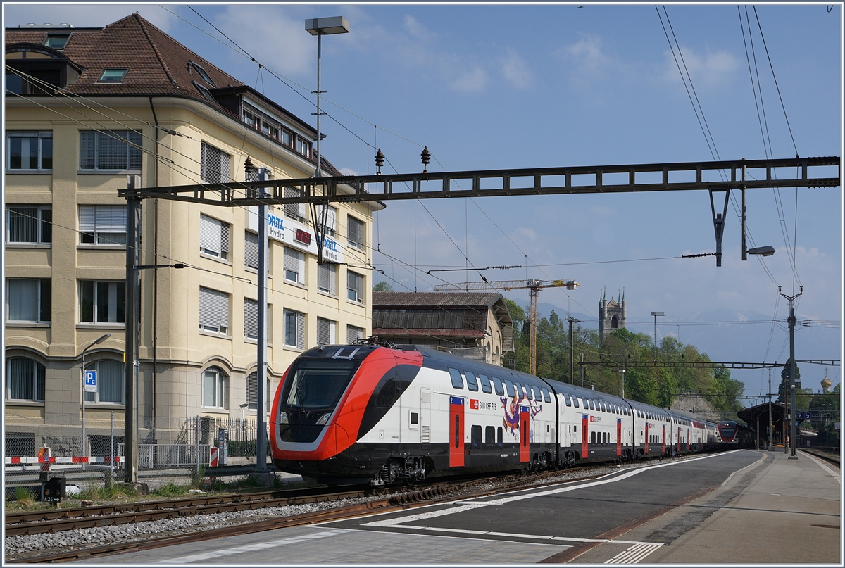 The new SBB IC /IR RABe 502 in Vevey.
