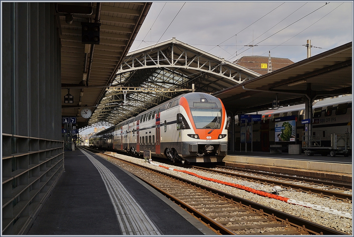 The SBB RABe 511 012  Schaffhausen  in Lausanne. 
