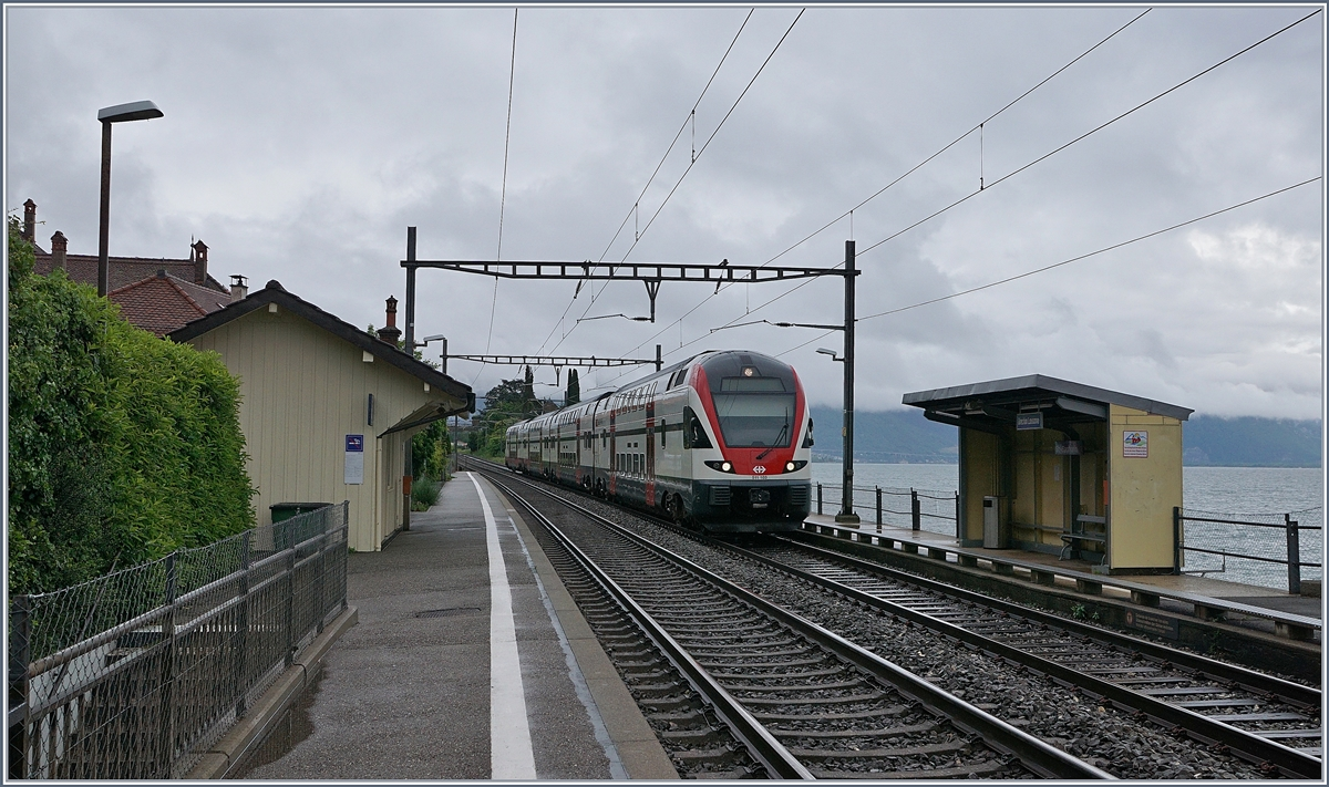 The SBB RABe 511 103 on the way to Geneva by St Saphorin. 