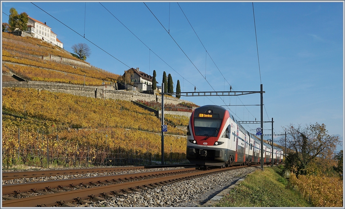 The SBB RABE 511 105 to Geneva by Lutry.