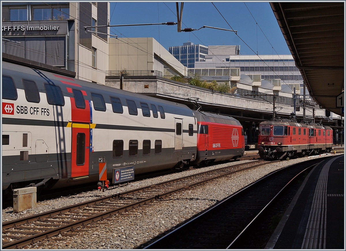 The SBB Re 420 250-3 and an other one in Lausanne. 