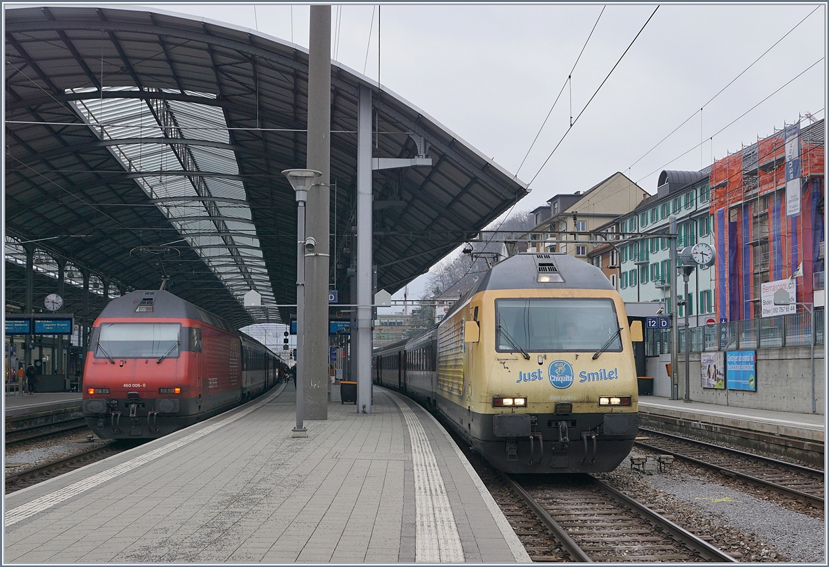 The SBB Re 460 006- and 029-2 in Olten.