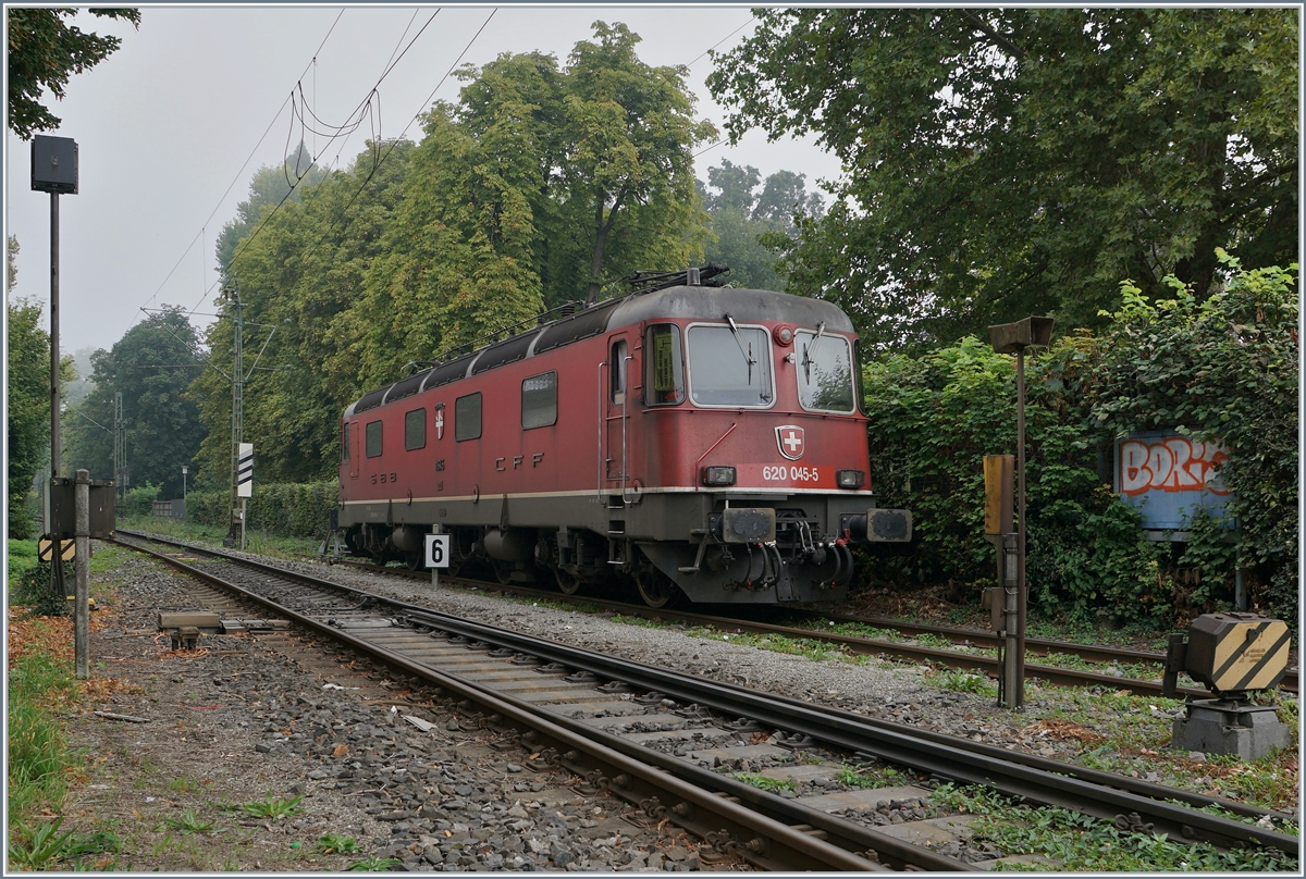 The SBB Re 620 045-4 is waiting in Konstanz for his next service. 
