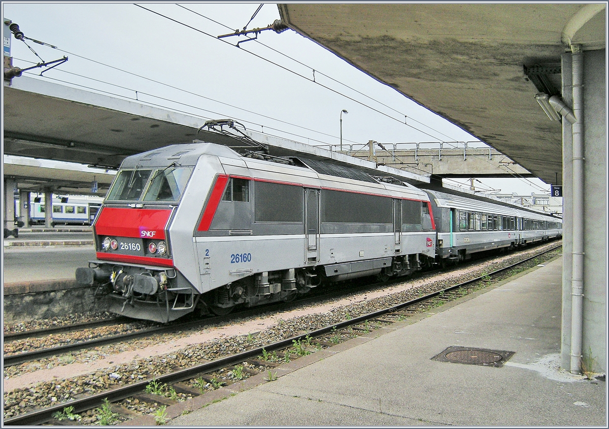 The SNCF BB 26160 in Mulhouse.