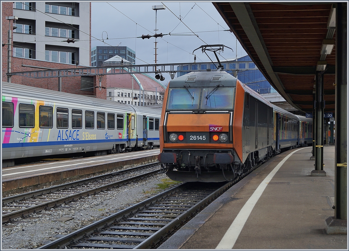 The SNCF Sybic BB 26145 in Basel SNCF.