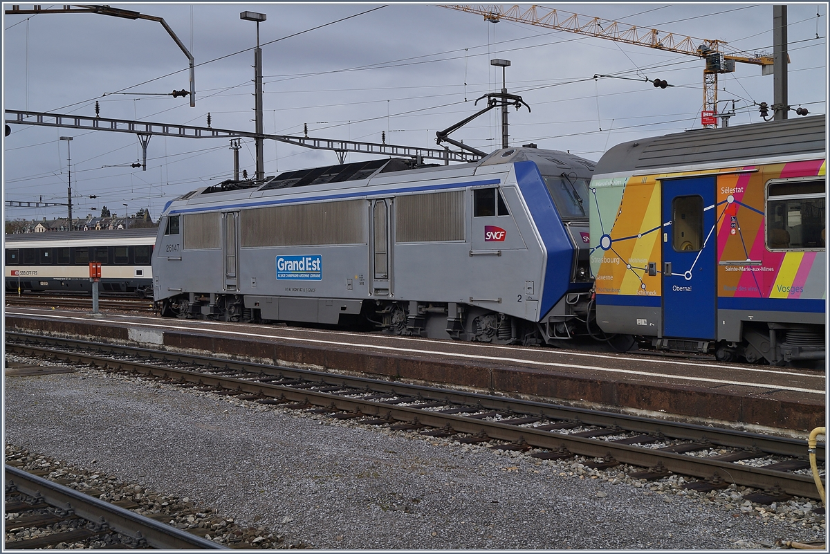 The SNCF Sybic BB 26147  Grand Est  (Great Eastern) in Basel SNCF.