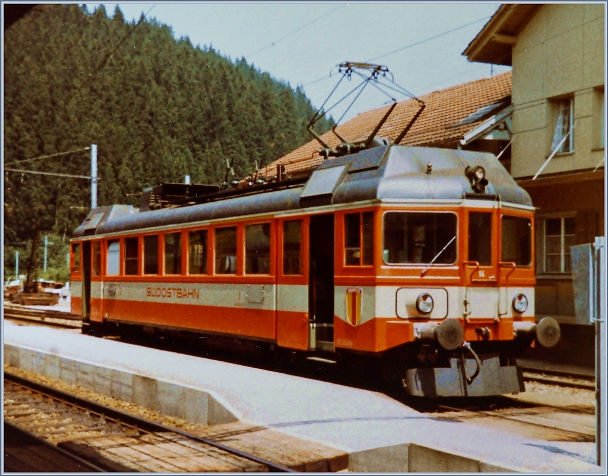 The SOB ABe 4/4 N° 41 in Bibberbrugg.