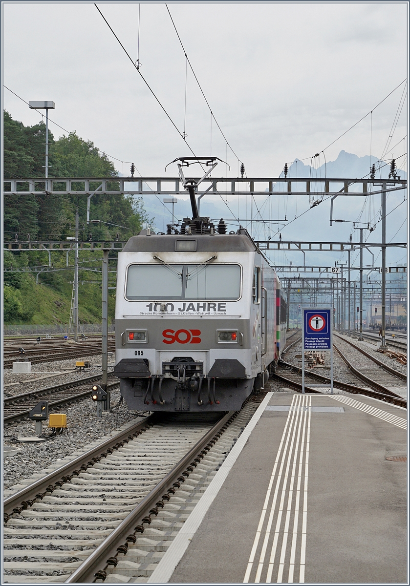 The SOB Re 456 in Arth-Goldau on the way to St Gallen.