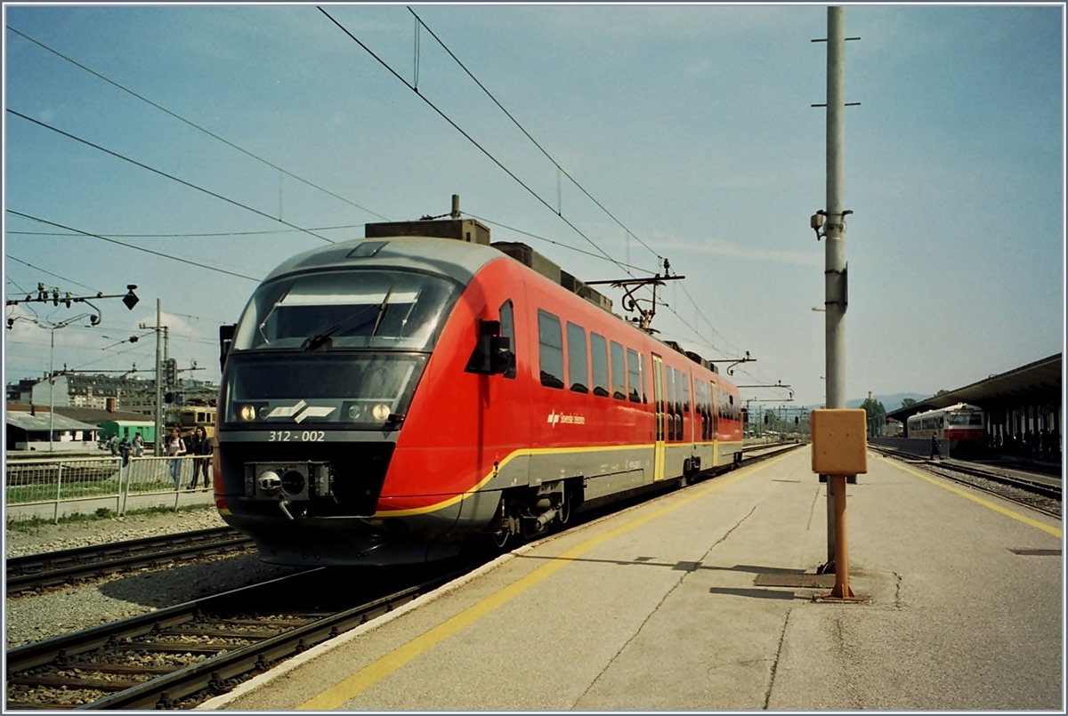The SZ 312 002 in Ljubljana.