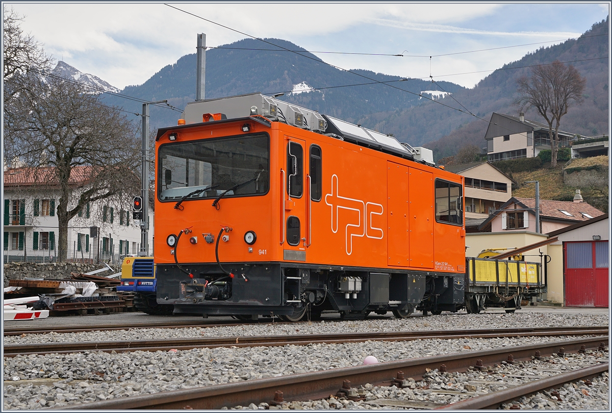 The TPC HGem 2/2 941 in the Aigle Depot ASD Station.