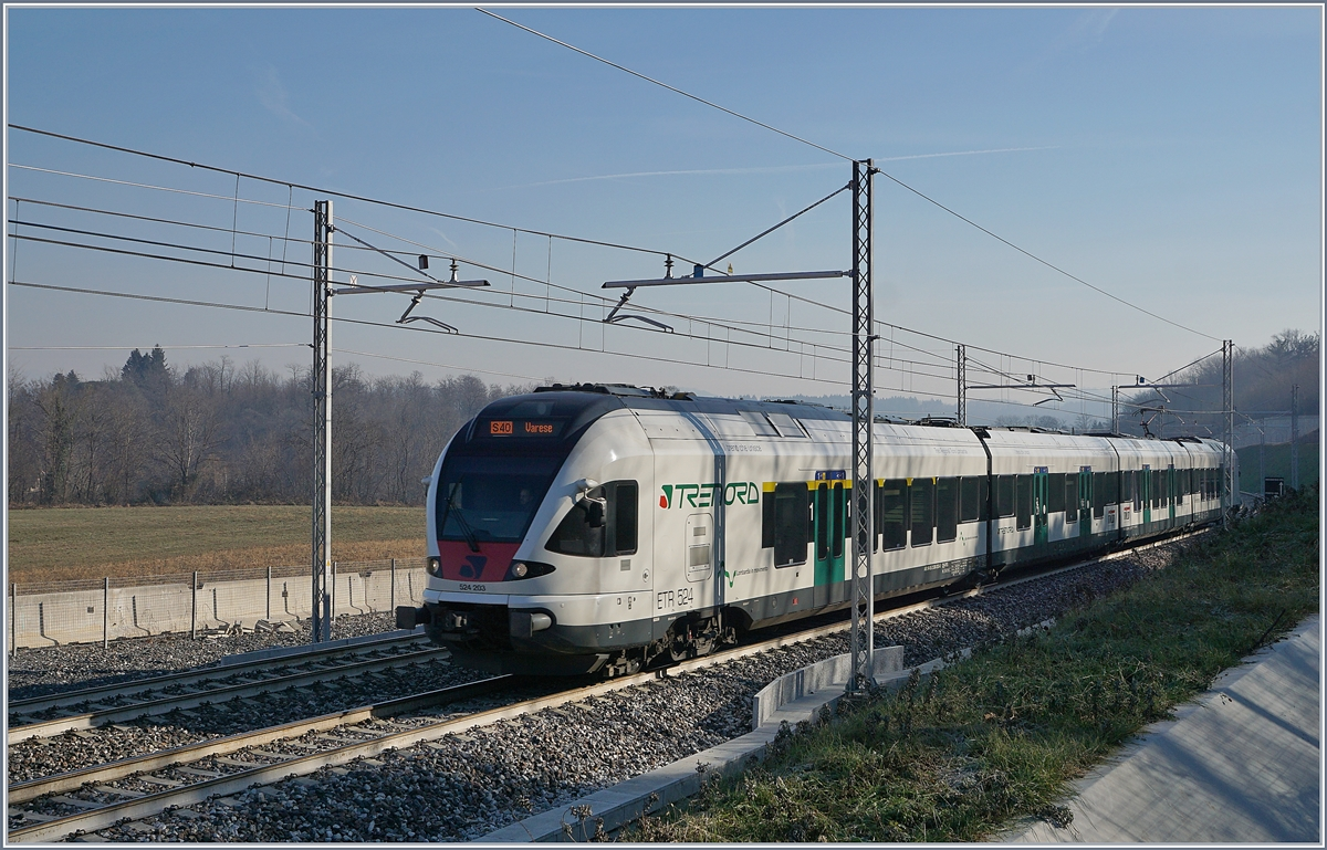 The Trenord ETR 524 203 by Arcisate.