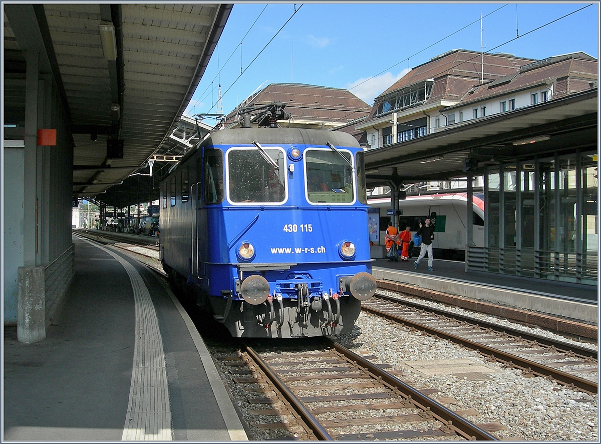 The WRS Re 430 115 (UIC 91 85 4430 115-6 CH-WRSCH) in Lausanne