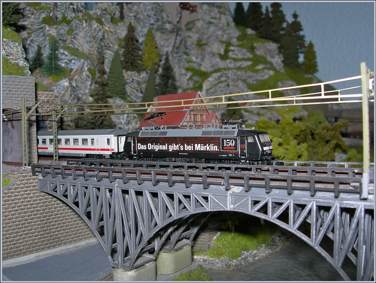 This Sunday is the Day of Model Railraoad: The Märklin Mini Club DB 120 159-9.