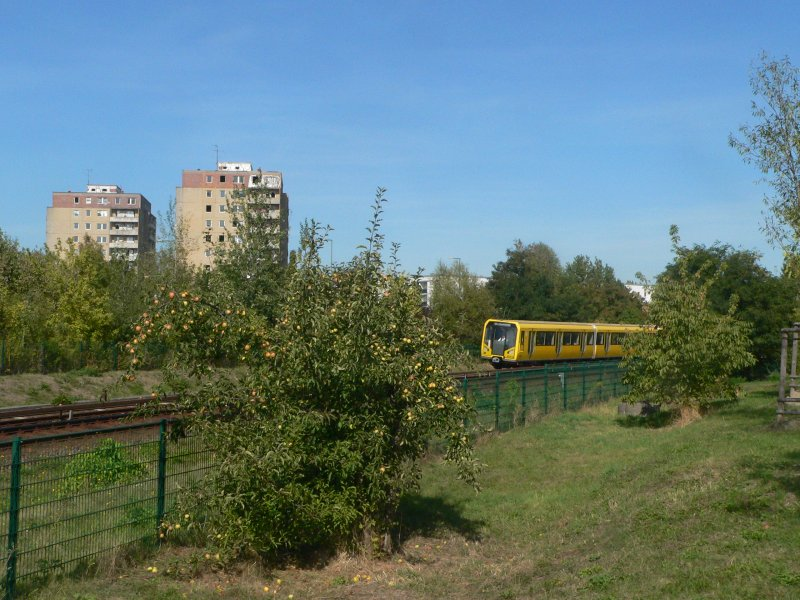 GDR-buildings and a new metrocar near Louis-Lewin-Straße, 2009-09-16