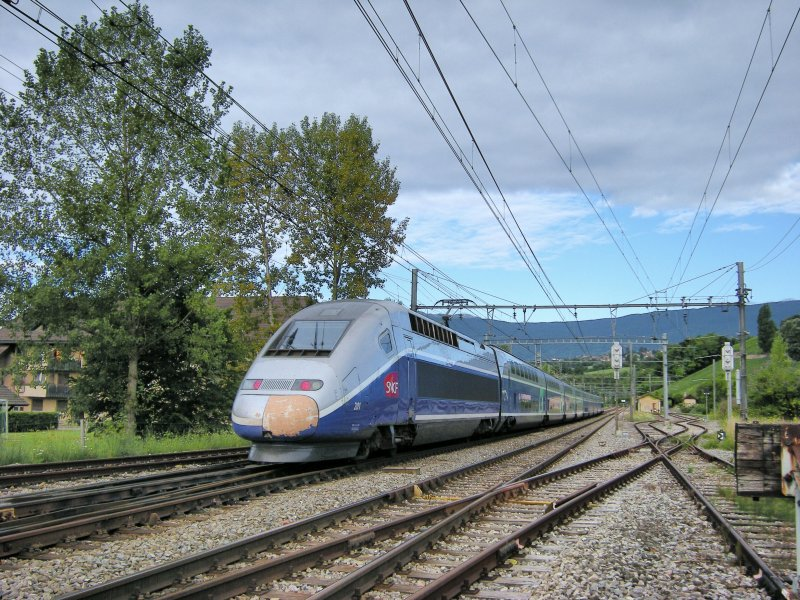 TGV Duplex to Marseille in La Plaine. 