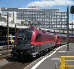 The ÖBB Rail-Jet in Lausanne.