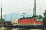 On 29 May 2004 ÖBB 1144 235 stands in Rosenheim.