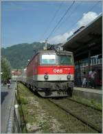 ÖBB 1144 216 with the IC 119 in Bregenz Hafen Station. 