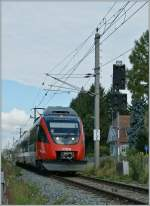 By the Entering-Signal of Lochau Hörbranz I pictured  this ÖBB ET 4024 030-1 on the way to Schruns.