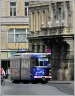 Tram N° 40 is running through the Maria-Theresien-Straße in Innsbruck on March 8th, 2008